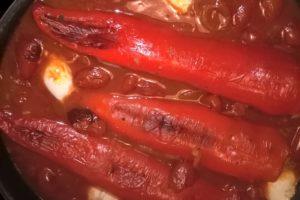 Gefüllte Spitzpaprika nach einem Rezept von Nils Egtermeyer