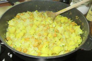 Blumenkohlcurry mit Reis