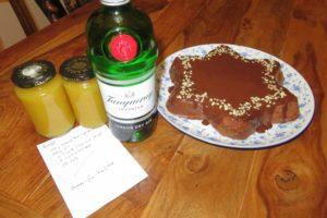 Sacher-Stern mit Ananas-Gin-Konfitüre
