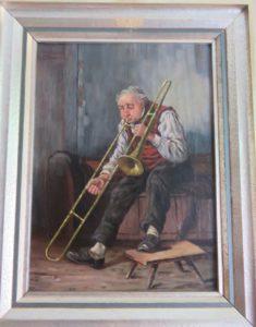 """""""Der Posaunist"""" von Friedrich Kottmann (Öl auf Leinwand) - Privatbesitz"""