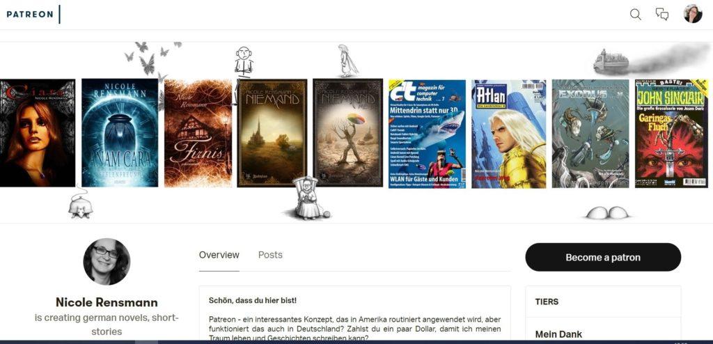 Meine Seite auf Patreon.com - frisch geschlüpf
